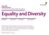 NCVO Members Quick Guide to Equality and Diversity